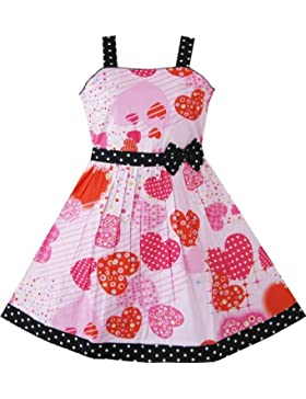 Sunny Fashion - Vestito floreale, bambina, rosa