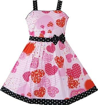 Av25 sunny fashion vestito floreale bambina rosa 11 12 for Amazon abbigliamento bambina