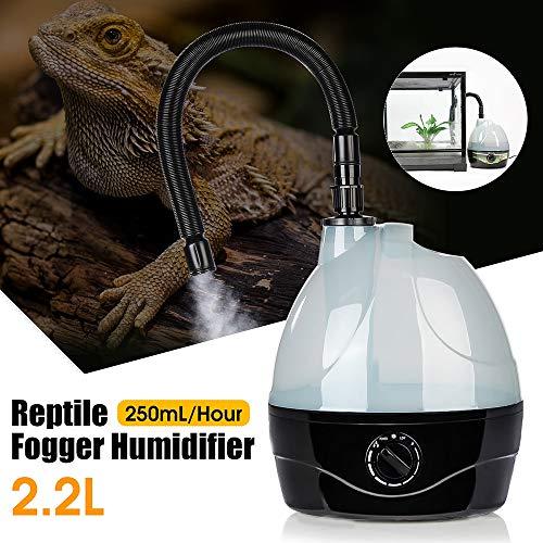 GAOword Humidificador de Reptiles/nebulizador de Reptiles, Adecuado para Anfibios y terrarios de Reptiles (Tanque de 2 litros)