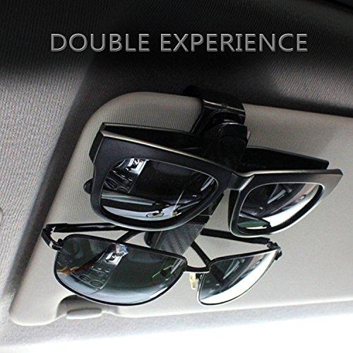 Raiphy Brillen halter für Auto Sonnenblende Auto Sonnenblende Clip Halter für Lesebrille Sonnenbrille