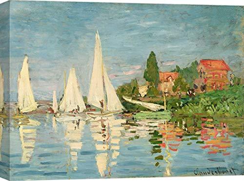 Art Print Cafe - Kunstdruck auf Leinwand - Claude Monet, Regatta in Argenteuil - 70x50 cm - Claude Monet-regatta Bei Argenteuil