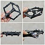 FrontStep-Pedali-Antiscivolo-in-Lega-di-magnesio-Easy-MTBMountain-BikeBici-da-StradaCity-BikePedali-per-CiclismoBMX-Pedali-per-Biciclette-con-Fuso-in-Acciaio-CR-Mo