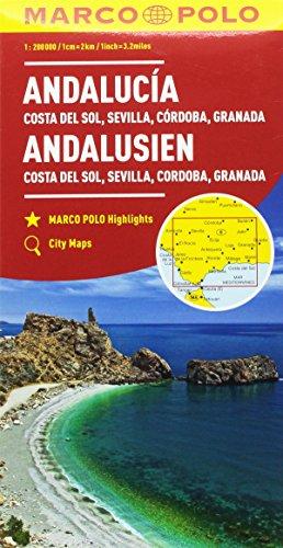 Andalusia, Costa del sole, Siviglia, Cordoba, Granada 1:200.000