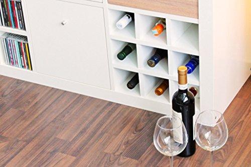 Ikea Expedit Kallax Regal Einsatz für 9 Flaschen (Fächer 10 x 10 cm) Flaschenregal Weinregal Wein...