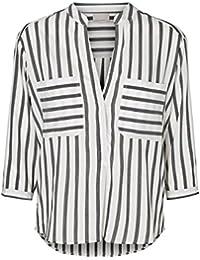 VERO MODA Damen Bluse Vmerika Stripe 3/4 Shirt E10 Noos