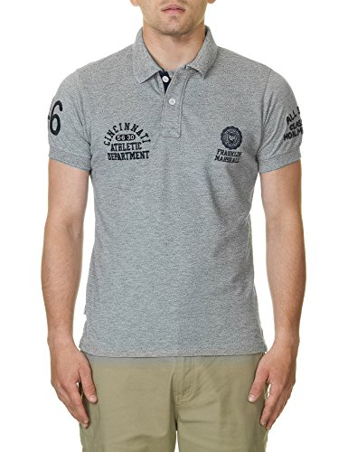 Franklin & Marshall Men's Man's Polo T-Shirt In Grey Color In Size L Grey