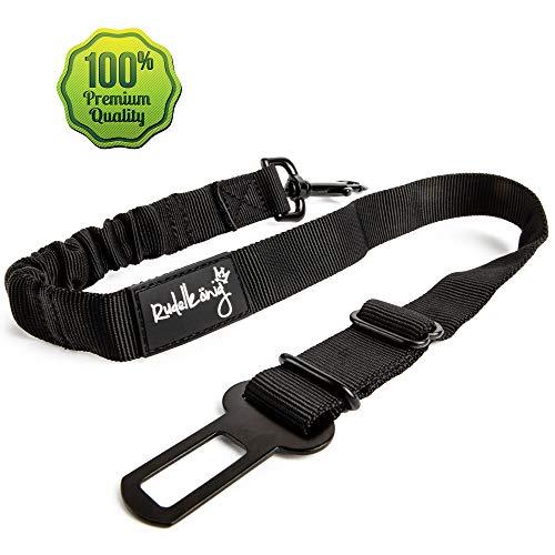 Rudelkönig Hundesicherheitsgurt fürs Auto - elastischer Anschnallgurt - passend für alle Hunderassen & Autotypen - stufenlos einstellbar