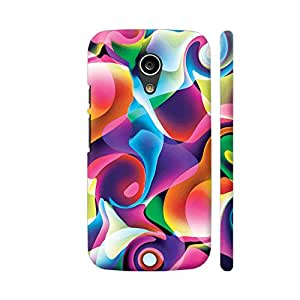 Colorpur Moto G2 Cover - Blue Pink Colorful Abstract Swirls Case