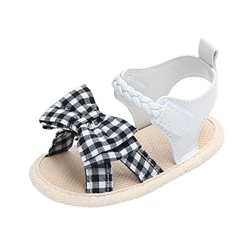 Baby rutschfeste Schuhe Kleinkind Schuhe Plaid Bogen Sandalen Prinzessin Schuhe,Baby Schmetterling Kristall Perle Prinzessin Schuhe,Atmungsaktiv MäDchen Geschlossen Sandalen Kinder rutschfeste