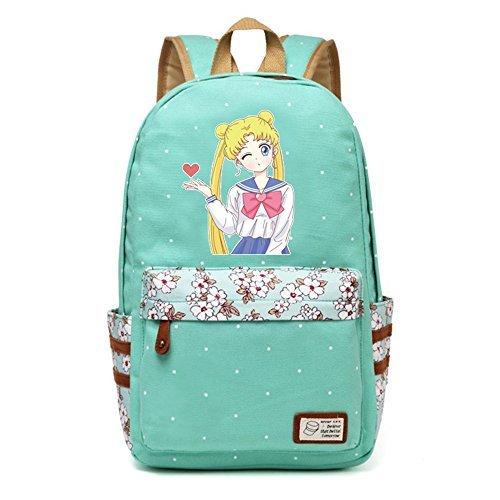 Siawasey Anime Sailor Moon Bookbag Mochila Bolso de escuela