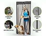 GBOAT Fliegengitter Tür Fliegenvorhang Fliegenschutz Insektenschutz mit Magnetverschluss Magnetvorhang für Balkontür/Türen, 90 x 210 cm, Schwarz