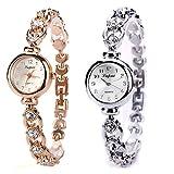 LVPAI Vente Chaude De Mode De Luxe Femmes Montres Femmes Armband Montre Uhr Diamant Armbanduhr Damen Elegant Klassisch Beiläufig Armbanduhren (Gold)