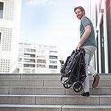 Hauck Rapid 4 - Sillita compacta y deportiva, de 0 meses a 25 kg, manillar ajustable en altura, respaldo reclinable, compatible con capazo blando Hauck, plegado fácil con una mano, negro