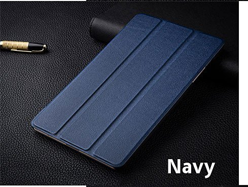for Samsung Galaxy Tab S3 9.7 inch SM-T820 T825 Sleek (with Auto wake / sleep) Book stand flip book cover case. (Deep Blue)