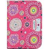 Pirulos 47830509  - Portadocumentos, diseño folk, 25 x 17 x 9 cm, color fresa