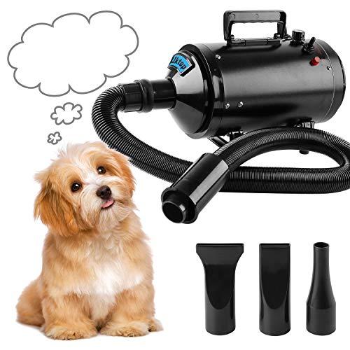 Hundefön Hundetrockner Pet Trockner Tierfön Pet Dryer Hundepflege Haartrockner Haustier Pflege Schwarz 2400W