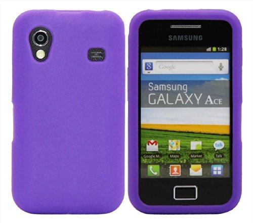 Luxburg® In-Colour Design Schutzhülle für Samsung Galaxy Ace GT-S5830 in Farbe Indigo Blau / Violett, Hülle Case aus Silikon