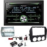 Pioneer FH-X840DAB Digitalradio Bluetooth USB CD Aux MP3 Autoradio Einbauset für Mazda MX-5 NC FL