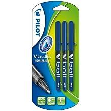 Pilot V-ball 05 - Blíster de 3 bolígrafos (punta fina de bola, tinta líquida), color azul