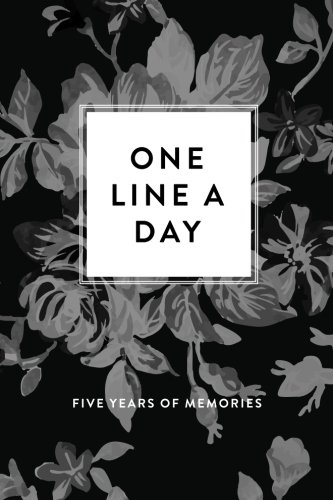 one-line-a-day-journal-five-years-of-memories-greyscale-floral-6x9-diary-dated-and-lined-book