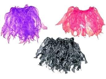 Silk Organza Ribbon Dark Purple Ballet Dance Wear Tutu Elastic Skirt H14 inches Dark Purple