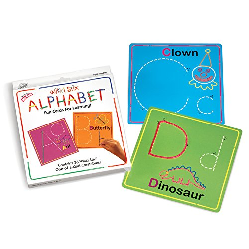 WikkiStix Wikki Stix Alphabet Fun Cards for Learning
