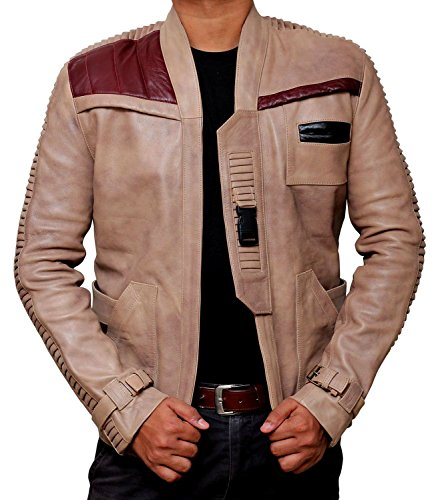 Finn Star Wars POE Dameron antico beige in vera pelle giacca Antique Beige Large