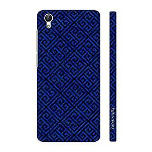 Enthopia Designer Hardshell Case Blue Greecian Pattern Back Cover for Vivo Y51L