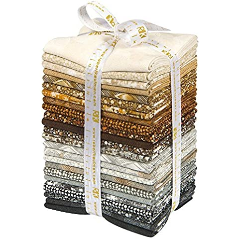Texture Spectrum Neutral 24 Fat Quarter Bundle Robert Kaufman Fabrics FQ-1031-24 by Robert Kaufman Fabrics - Quarter Fat Fq Bundle