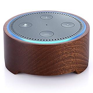 Amazon Echo Dot-Hülle (nur für Echo Dot 2. Generation geeignet), Bicolor Natürlicher Massivholz ständer halter für Echo Dot 2nd Generation Schöne Dekoration für Küchen und Wohnzimmer , Schlafzimmer