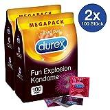 Durex Fun Explosion Kondome - Verschiedene Sorten für aufregende Vielfalt - Verhütung, die Spaß macht - 200er Großpackung (2 x 100 Stück)