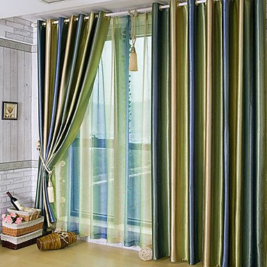 mzmz caldo protezione e rumore reducting due pannelli verde a righe Poliestere Double Pleated-Red