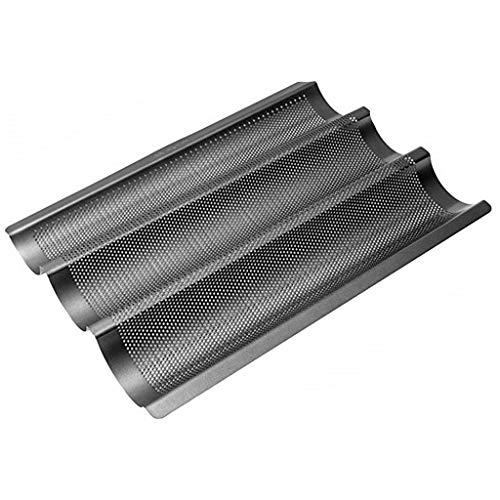 HCFKJ Hochwertige Antihaft-Brotbackform, für Baguette, 38.5 x 28 x 4 cm (Schwarz)