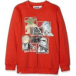 LEGO Wear Boy Star Wars CM-73428, Sudadera para Niños, Rojo (Red 365), 12 años
