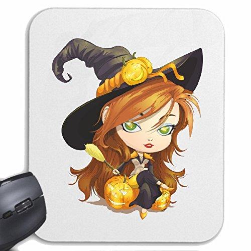Reifen-Markt Mousepad (Mauspad) Halloween KÜRBIS Prinzessin Hexe VERZAUBERT Prinzessin Halloween Oktober KÜRBIS Walpurgisnacht FRÖHLICH TRAURIG Gothic für ihren Laptop, Notebook oder Internet PC (mit