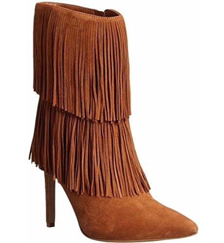 LINYI Femmes Gland Bottes Stiletto Talon Haut Talon Confortable Banlieue Chaussures Automne Hiver