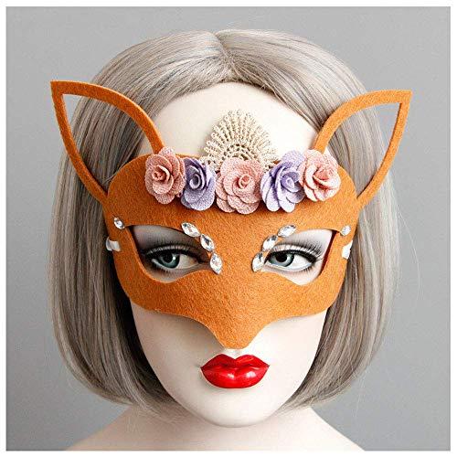 r Maske Kinder Männer Und Frauen Erwachsene Universal Christmas Ball COS Orange Prinzessin Maske ()
