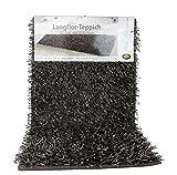 Gözze Teppich, Langflor, Metallic-Optik, 50 x 70 cm, Shaggy, Taupe, 1012-71-7