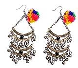 Atulya Beads long german silver earring ...