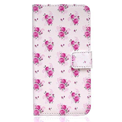 Aeeque iPhone 5/5S/5C/SE/6 plus/6S,, Samsung Galaxy S3/S4/S5/S6/S6/S6 Edge Edge J5/plus/nota 5/S7/S7/Edge G360/G530/i9060, Sony Xperia M4/Z5 mini/Z5, P8 Huawei Lite pittura, disegno elegante Custodia  Lovely Roses