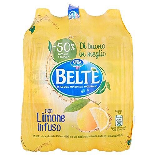 BELTÈ, Bevanda Analcolica di thè in Acqua Minerale Naturale con infuso di Limone 1,5L x 6