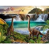 Fototapeten Dinosaurier 352 x 250 cm Vlies Wand Tapete Wohnzimmer Schlafzimmer Büro Flur Dekoration Wandbilder XXL Moderne Wanddeko - 100% MADE IN GERMANY - Wasserfall Runa Tapeten 9191011a