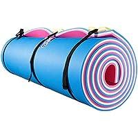 Divertida alfombra flotante de agua, Isla de Natación, Aqua Pad, se utiliza en lago, piscina, playa, para relajarse, vacaciones, actividades acuáticas, deportes, recreaciones, fiestas, empaquetado enrollado, Azul, rosado, blanco (Pink-White-BLUE)