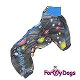 For my Dogs Softshell Winteroverall Winteranzug Anzug Overall mit Fleece windabweisend wasserabweisend Rüde Hündin (16, Rüde / blau)