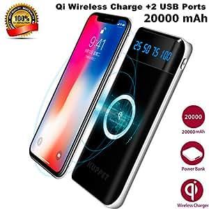 Chargeur à Induction sans Fil, KUPPET 2 en 1 PowerCore 20000mAh Batterie Externe Portable Power
