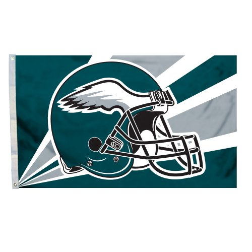 Philadelphia Eagles 3 x5 Casco Dise-o bandera