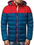 OZONEE Herren Winterjacke Parka Jacke Kapuzenjacke Wärmejacke Wintermantel Coat Wärmemantel Warm Modern Täglichen 777/795K BLAU L