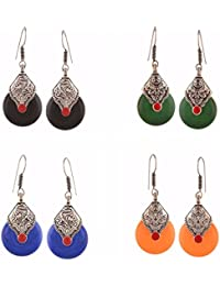 Efulgenz Jewellery Combo Of Antique Oxidised Fancy Party Wear Dangler Earrings For Girls And Women - B077MZBJHY