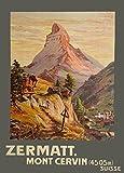 Vintage Travel Schweiz für Zermatt Mont Leichtschlafsack