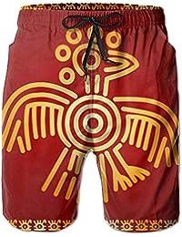 DDOBY Indios Americanos Mayas Aztecas Cultura Pantalones Cortos de Playa de Secado rápido Traje de baño